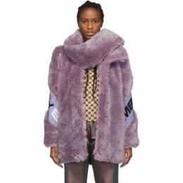 Misbhv Purple Faux-Fur Europa Coat 192937F06300101GB