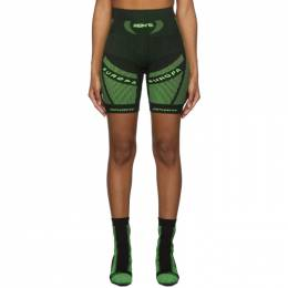 Misbhv Black and Green Active Future Shorts 192937F08800202GB