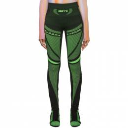 Misbhv Black and Green Active Future Leggings 192937F08500404GB