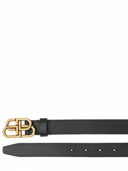 30mm Bb Leather Belt Balenciaga 70IWD2048-MTAwMA2