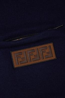 Синий шарф с рельефным логотипом Fendi 163290876