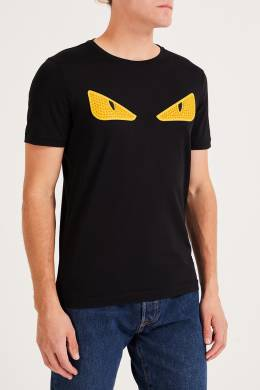 Черная футболка с глазами Bag Bugs Fendi 1632157980