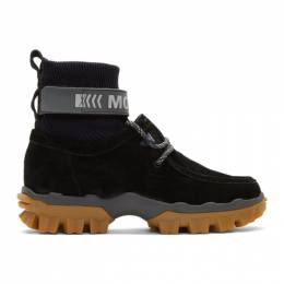 Moncler Black Henke Boots 192111M25500407GB