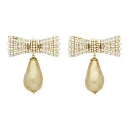 Dolce&Gabbana Gold Bow Pearl Earrings 192003F02201501GB