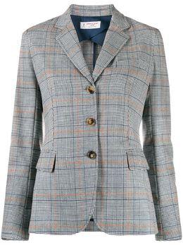 Alberto Biani - check-pattern fitted blazer 03W60996955859390000