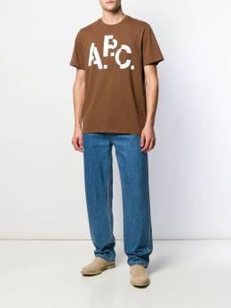 A.P.C. - футболка с логотипом CSH06809953669960000