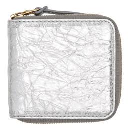 Visvim Silver Folie Zip Wallet 192487M16400601GB
