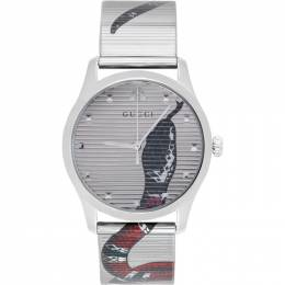 Gucci Silver G-Timeless Snake Watch 192451M16501501GB