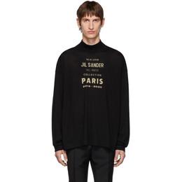 Jil Sander Black Oversized Boxy Logo Sweater 192249M20500302GB