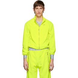 Marine Serre Yellow Moire Jacket 192020M18000204GB