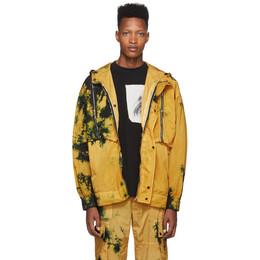 Palm Angels Yellow Tie-Dye Windbreaker Jacket 192695M18000304GB