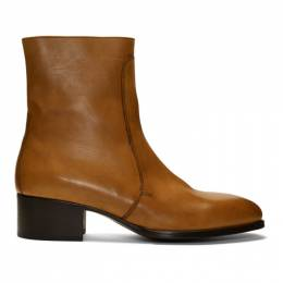 Lemaire Brown Leather Chelsea Boots 192646M22300302GB