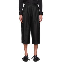 Renli Su Black Mulberry Silk Trousers 192079F08700302GB