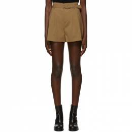 Red Valentino Tan Belted Shorts 192089F08800603GB