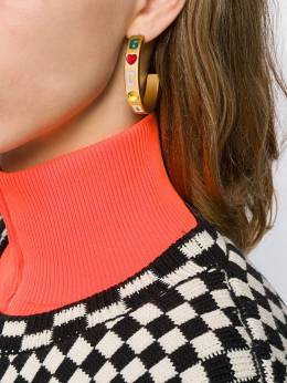 Gcds - rhinestone-embellished hoop earrings 6W696303956693330000