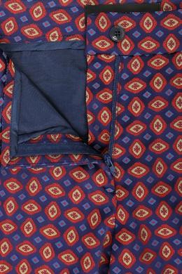 Синие брюки с контрастным узором Etro 907158718