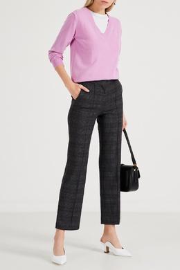 Серые клетчатые брюки со стрелками Maje 888157966