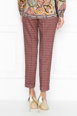 Розовые брюки с узорами Etro 907158760