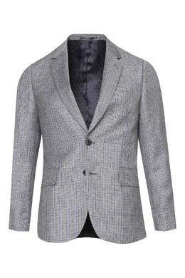 Серый шерстяной костюм в клетку Paul Smith 1924159195