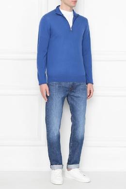 Голубой свитер с застежкой-молнией Paul Smith 1924159221