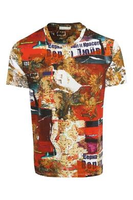 Хлопковая футболка с узорами Etro 907158816