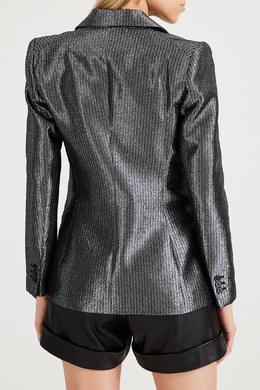 Прямой серебряный пиджак в полоску Maje 888157977