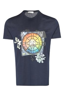 Хлопковая футболка с принтом Etro 907158499