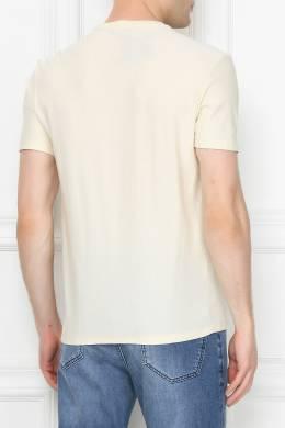Хлопковая футболка с аппликацией Etro 907158502