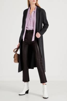 Коричневые брюки из кожи Sandro 914158443