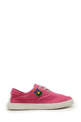 Розовые кожаные кеды с декором Saint Laurent 1531158549
