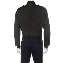 Lanvin Safari Green Cotton Button Down Shirt L 235223