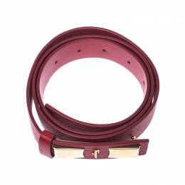 Salvatore Ferragamo Red Leather Belt Size 85CM 235172