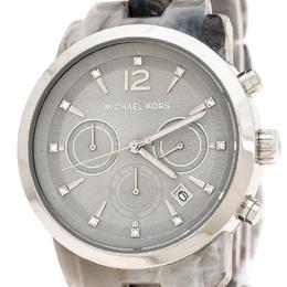 Michael Kors Grey Acetate Stainless Steel Audrina MK6310 Women's Wristwatch 41 mm 235285