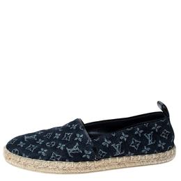 Louis Vuitton Monogram Denim Espadrille Loafers Size 38 235773