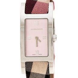 Burberry Silver Pink Stainless Steel Heritage BU1025 Women's Wristwatch 18 mm 235314