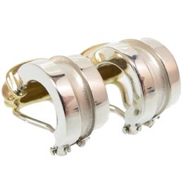 Tiffany & Co. Sterling Silver 18K Yellow Gold Earrings 235013