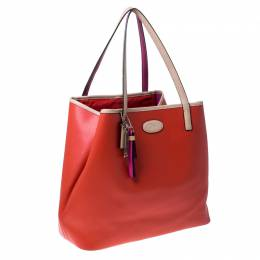 Coach Tri Color Leather Shopper Tote 232201