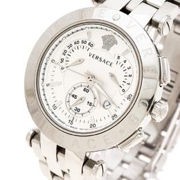 Versace Silver White Stainless Steel V Race 23C Women's Wristwatch 42 mm 235464