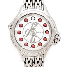 Fendi Silver Stainless Steel Crazy Carats 10500L Women's Wristwatch 33 mm 235474