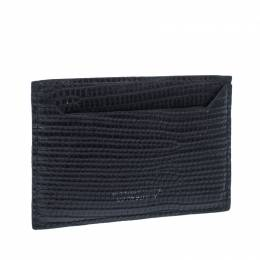 Dsquared2 Black Lizard Embossed Leather Card Holder 235199
