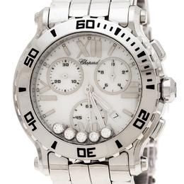 Chopard White Stainless Steel Happy Sport 8499 Women's Wristwatch 42 mm 235446