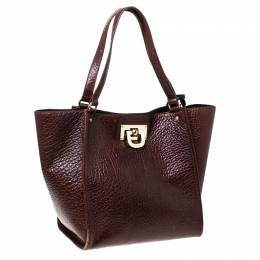 DKNY Copper Leather Courtney Shopper Tote 232055