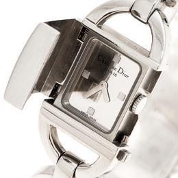 Dior Silver Stainless Steel Pandiora D78 Women's Wristwatch 18 mm 235328