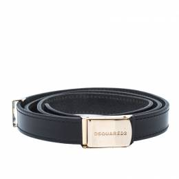 Dsquared2 Black Leather Belt 85CM 235194