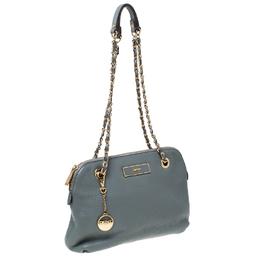 DKNY Grey Leather Shoulder Bag 231893