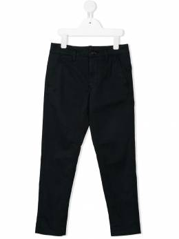 Stone Island Junior - прямые брюки чинос с логотипом 99636599955855630000