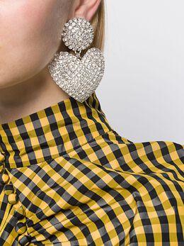 Alessandra Rich - oversized heart charm earrings A9855955993600000000