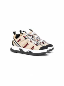 Burberry Kids - кроссовки с контрастными полосками 88539559580600000000