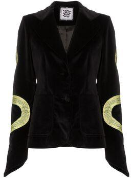 Rockins - snake-embroidered blazer AVEL69999BLACKSNAKE9