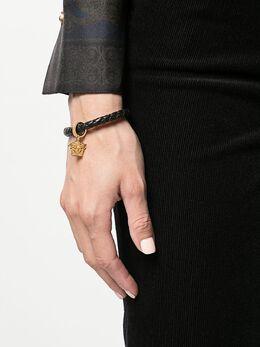 Versace - плетеный браслет с подвеской 'Medusa' G353DMTN693066853000